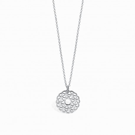 Boho Rosacea Silver Necklace