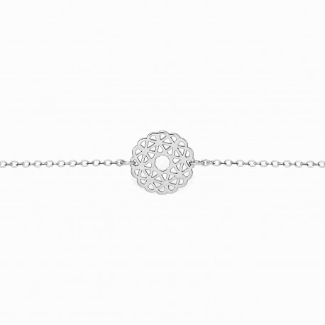 Boho Rosacea Silver Bracelet