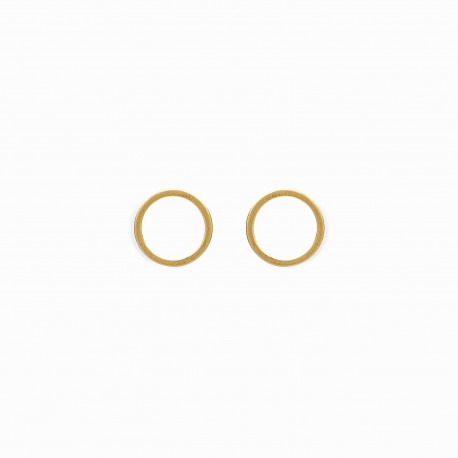 Geometric Circle Golden Earrings